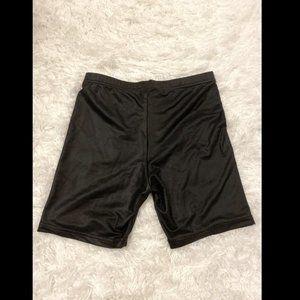 American apparel faux leather biker short